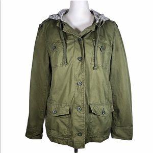 GAP Army Jacket with Striped Hood